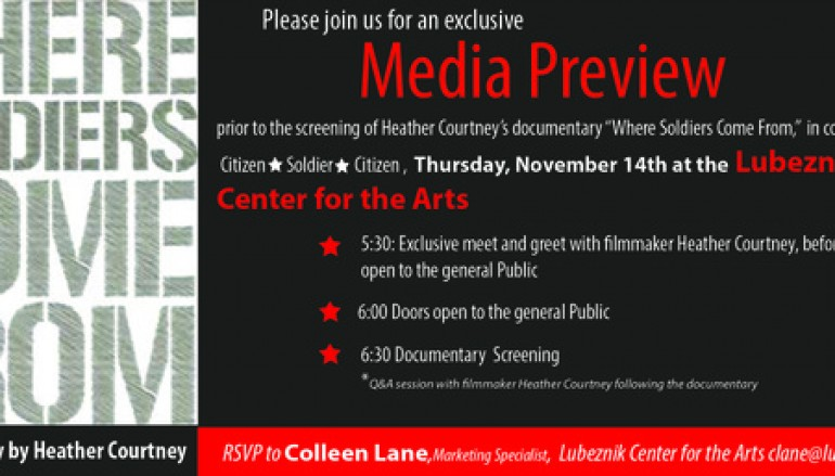 """Media Preview Event: """"Where Soldiers Come From"""""""