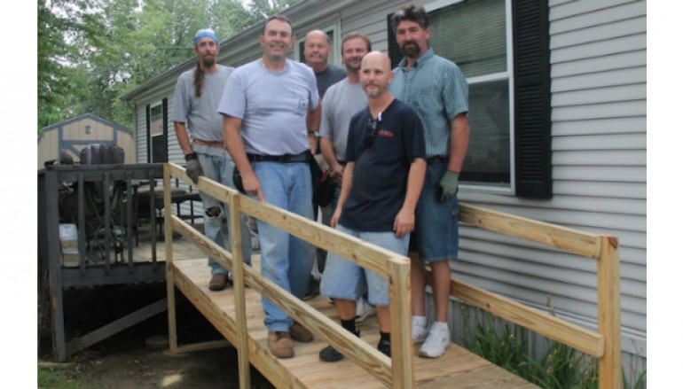 Local Carpenters Build Wheelchair Ramp For Fellow Member