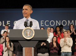 President Obama Visits Ivy Tech, Indianapolis