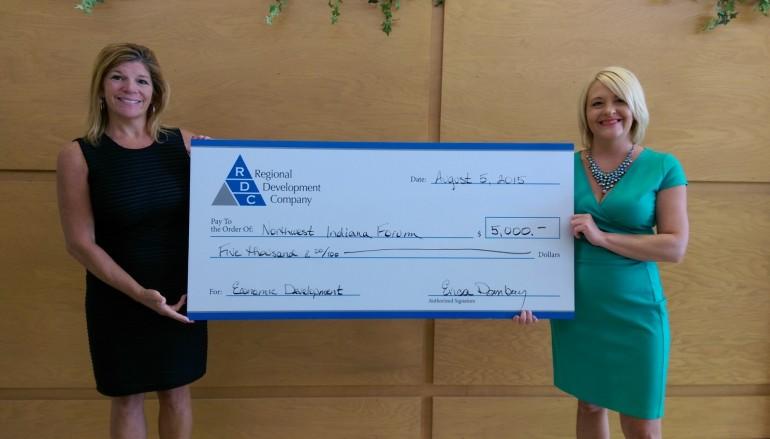 Regional Development Company (RDC) donates to Economic Developmentin Northwest Indiana