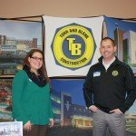 Pictured are Natalie Mathes and Brock Rhodes from Tonn & Blank Construction.