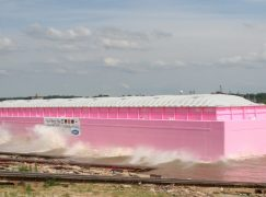 Giant Pink Barge Visits Indiana to Promote Cancer Research