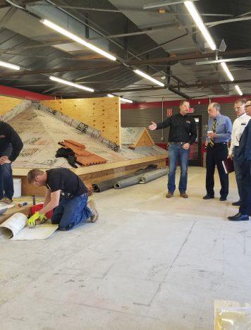 Congressman Visits Korellis Roofing