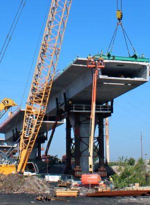 Cline Bridge has 100 Segments Down, 585 to Go