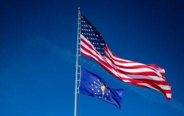 Chicagoland's Largest Flagpole Raised Over Digital Crossroad Data Center
